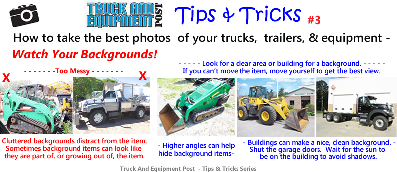 truck equipment photo tips watch your backgrounds