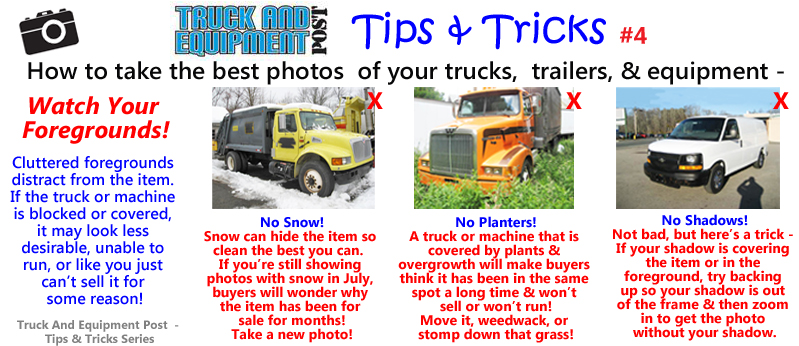 truck equipment photo tips watch your foregrounds