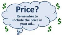 classified ads advertising price